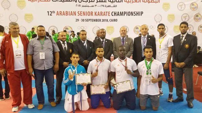 ليبيا تحصد خمس قلائد في البطولة العربية للكاراتيه