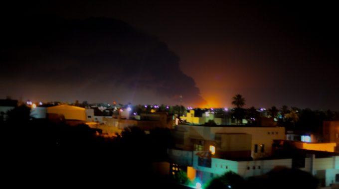 الوطنية للنفط: إصابة خزان لوقود الطيران جراء الاشتباكات