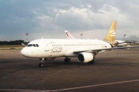 بعد توقفها لعام ونصف.. وصول طائرة الخطوط الليبية إلى مطار بنينا